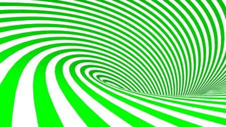 green and White spiral background - 3D rendering illustration