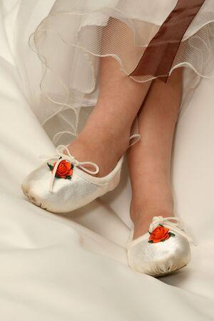 flowergirl: Flower girl shoes Stock Photo