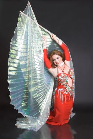 belly dancer: Blue eyed belly dancer with a big wings