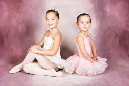 dancers: Young dancer wearing a tutu and tiara Stock Photo