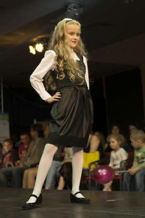 Fashion kids show in Minsk, Belarus, 16 may 2012 Stock Photo - 13744915