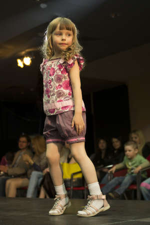 Fashion kids show in Minsk, Belarus, 16 may 2012 Stock Photo - 13744929