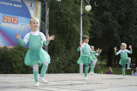 Show during Minsk City Day Holiday: 945 years old, 9 September 2012 in Minsk, Belarus