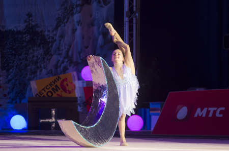 lilia: Tridvornova Lilia from Minsk participates at BabyCup 2012 rhythmic gymnastics competition