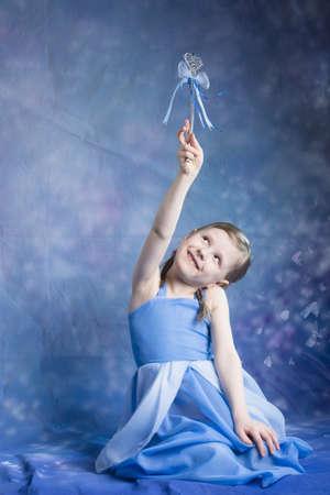 little princess  fairy girl  posiing in studio Zdjęcie Seryjne
