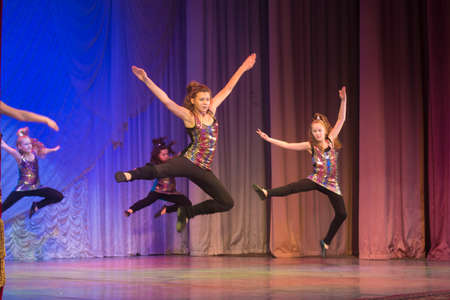 unidentified young dancers participates in  MegaDance-2013  competitions in choreography , 16 November 2013 in Minsk, Belarus