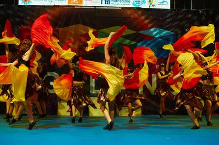 minsk: MINSK - NOVEMBER 26: children group dance at International MegaDance competition, on November 26, 2016 in Minsk, Belarus.