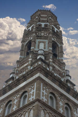mudejar: View of a Mudejar tower in Spain - Europe