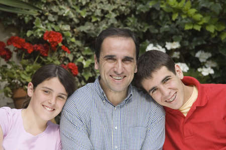 Father with son and daughter Stock Photo - 915895
