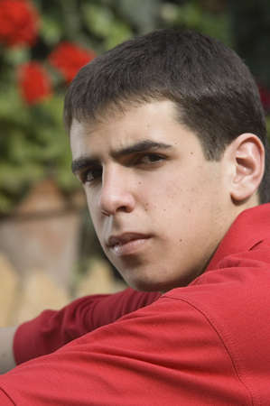 unhappiness: Thoughtful teenager Stock Photo