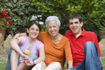 Grandmother with grandchildren Stock Photo - 915897