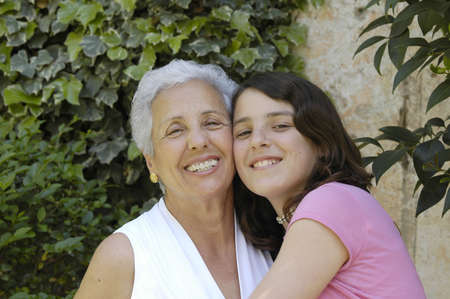 Grandmother and granddaughter Stock Photo - 2169501