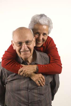 Lovely senior couple in piggyback ride Stock Photo - 2533855