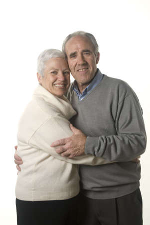 distinguished: Lovely senioir couple still in love
