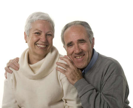 distinguished: Lovely senior couple still in love Stock Photo