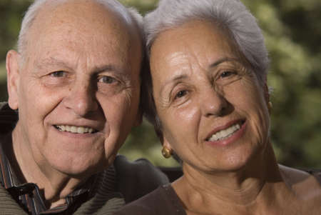distinguished: Close-up of a lovely senior couple