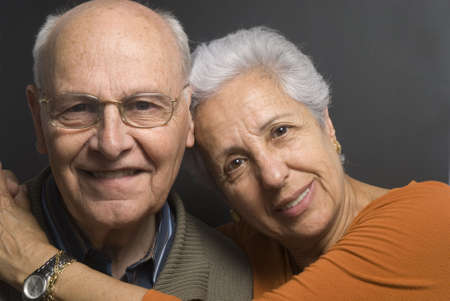 Close-up of a lovely senior couple Stock Photo - 2886642