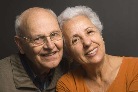 Close-up of a lovely senior couple Stock Photo - 2886641