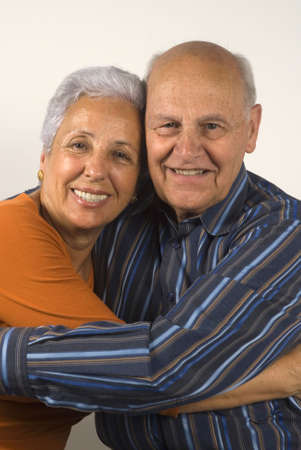 Senior wife and husband hugging each other Stock Photo - 3160470