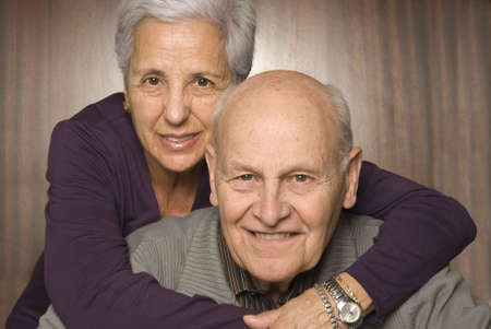 citizen: Close-up of a loving, handsome senior couple