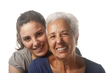 Portrait of a grandmother and her granddaughter  photo