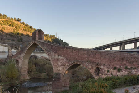 Devils Bridge over the Llobrega River, Martorell Barcelona Banco de Imagens