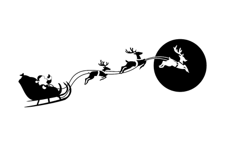 Santa Claus flying sleigh