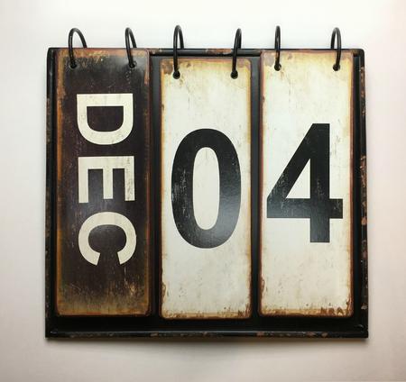 December 4  with vintage calendar