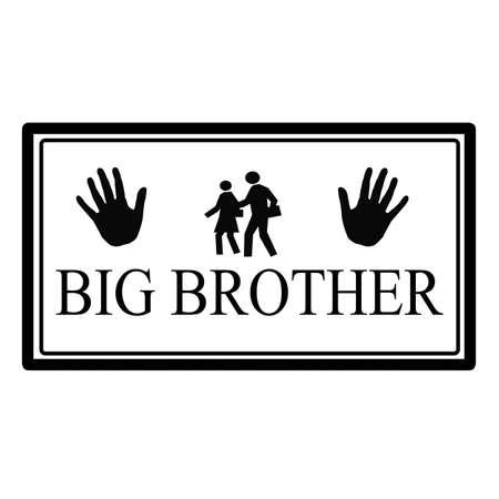 big brother: Big brother label, vector illustration Illustration