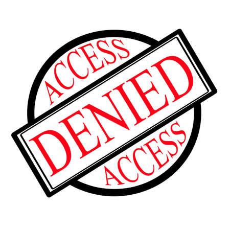 denied: Acceso denegado etiqueta, ilustraci�n vectorial