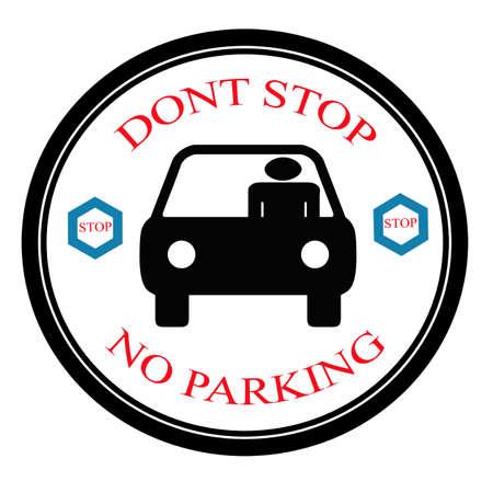 dont: Dont stop label, vector illustration Illustration