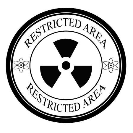 area restringida: Etiqueta de zona restringida, ilustraci�n vectorial