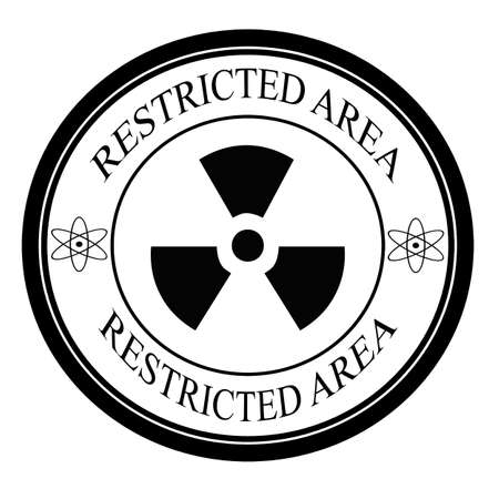 restricted: Restricted area label, vector illustration