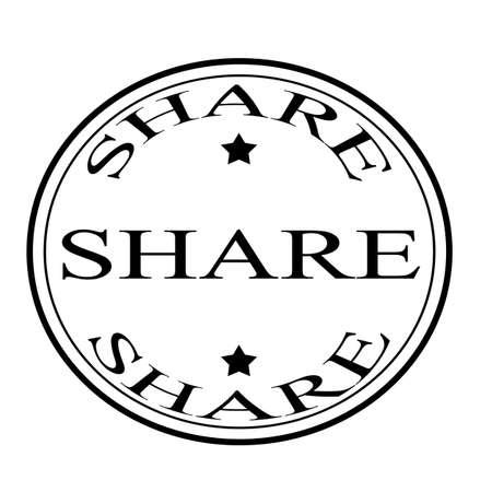bluster: Share label, vector illustration
