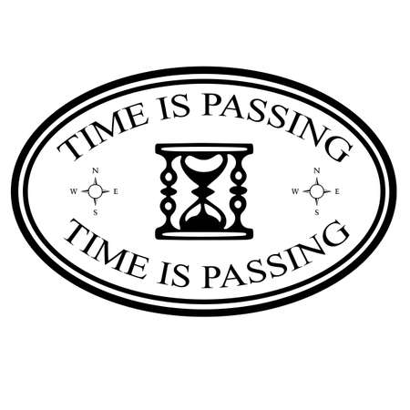 passing: Sello con texto tiempo va pasando, ilustraci�n vectorial Vectores