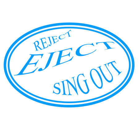 reject: Stamp with words reject, eject,sing out inside, vector illustration