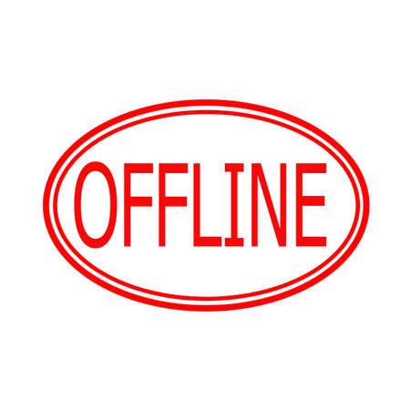 offline: Stamp with word offline inside, vector illustration Illustration