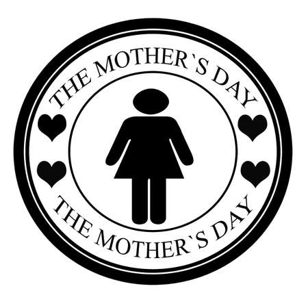 mamma: Stamp with text the mother s day inside, vector illustration Illustration