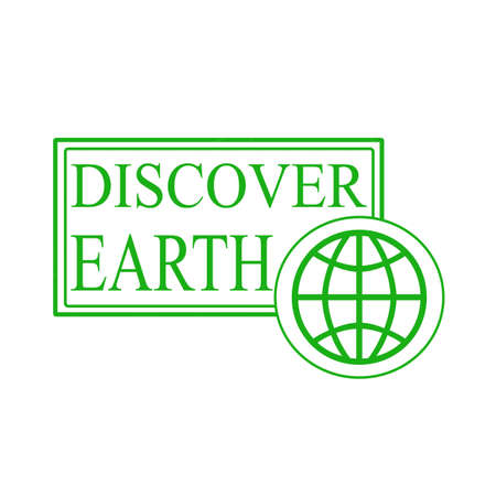 discover: Stamp with text discover earth inside,illustration Illustration