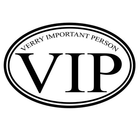 VIP label, illustration Illustration