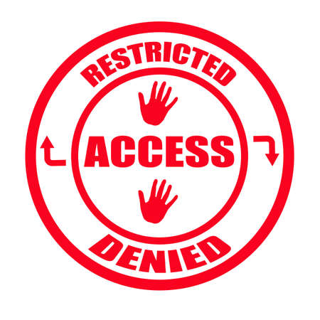 restricted: Stamp with words restricted, access, denied inside,illustration