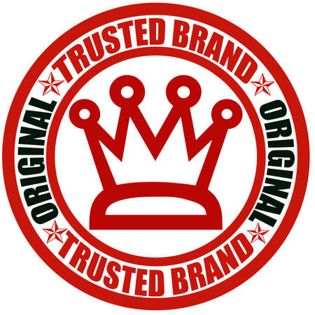 trusted: Stamp with text trusted brand inside, illustration Illustration