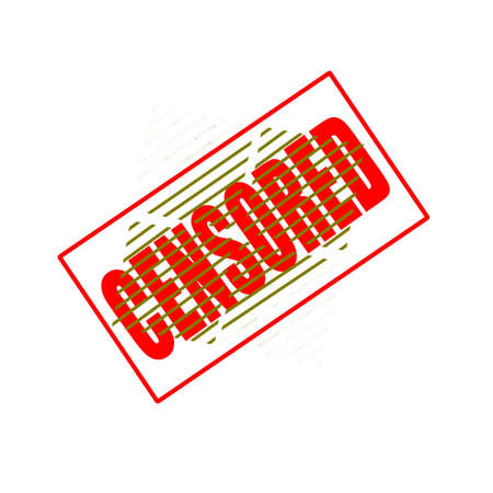 censored: Stamp with word censored inside, illustration
