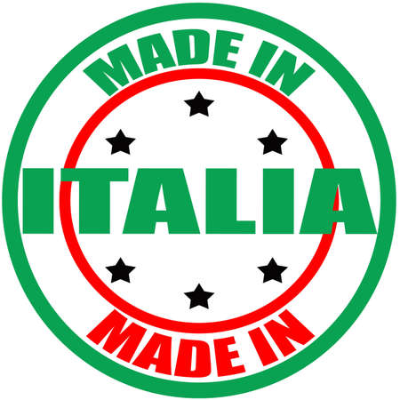 italia: Stamp with text made in Italia inside, vector illustration Illustration