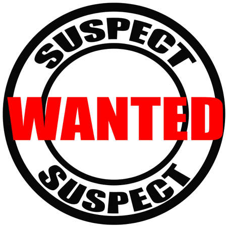 suspect: Stamp with words suspect, wanted inside, vector illustration