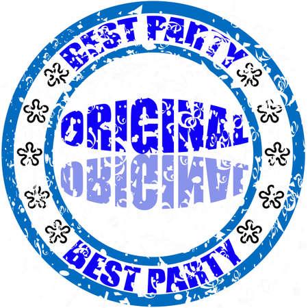 best party: Timbro con il testo migliore del partito dentro, illustrazione vettoriale