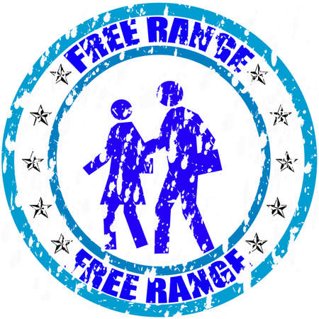 free range: Stamp with text free range inside, vector illustration