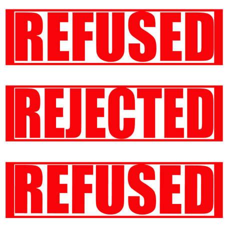 refused: Sello con las palabras se negaron y se expulsa en el interior, ilustraci�n vectorial