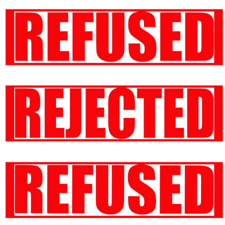 refused: Stamp with words refused and ejected inside, vector illustration Illustration