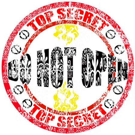 not open: Stamp with text do not open inside, vector illustration